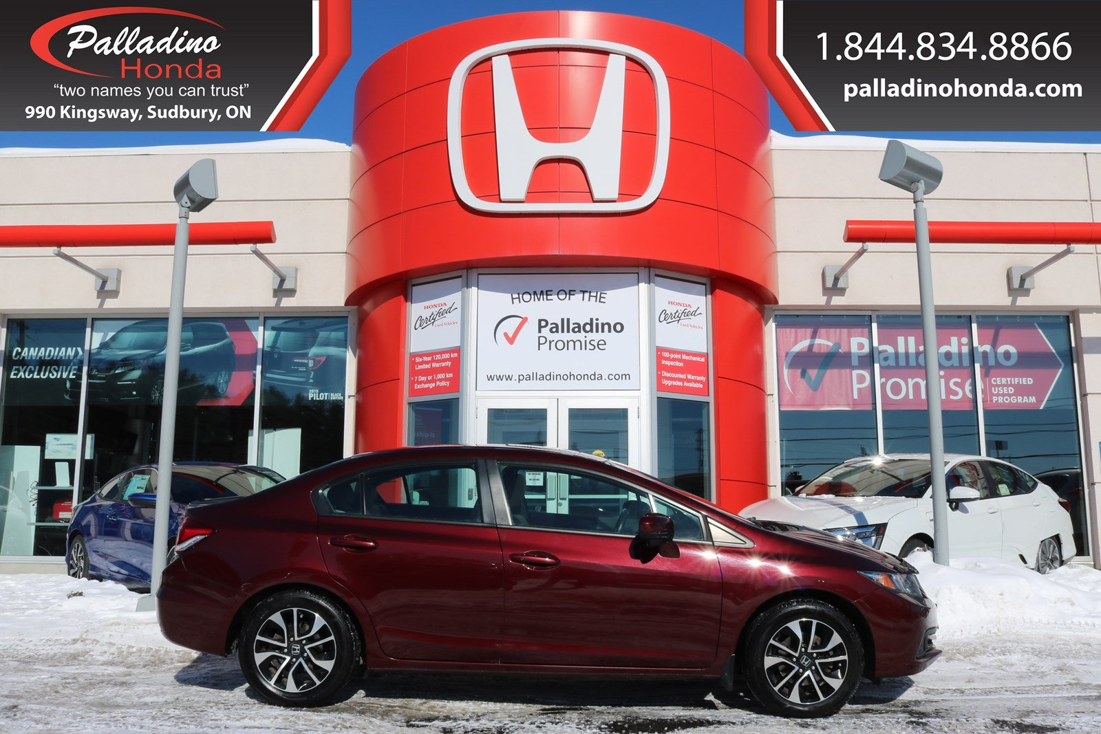 Pre-Owned 2015 Honda Civic Sedan EX-BLIND SPOT CAMERA,BACKUP CAMERA,BLUETOOTH