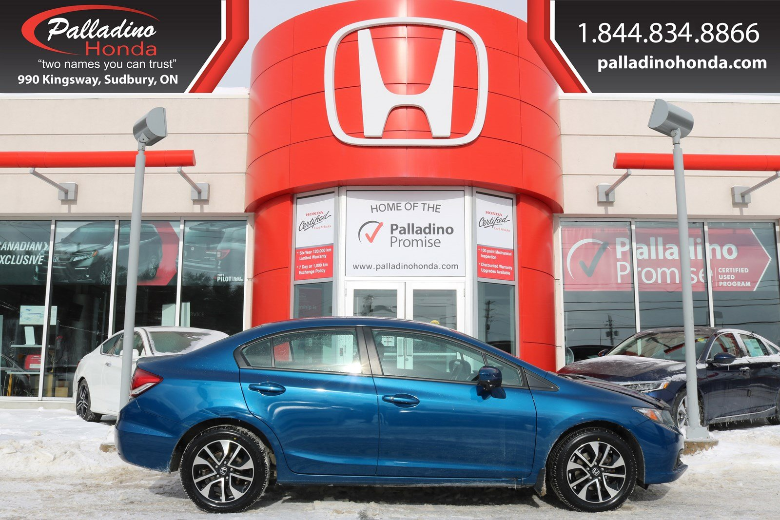 Pre-Owned 2015 Honda Civic Sedan EX-BLUETOOTH CONNECTION,SUNROOF,HEATED SEATS