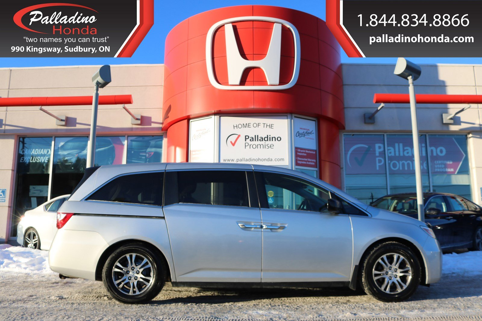 Pre-Owned 2011 Honda Odyssey EX - CERTIFIED - WINTER TIRES AND RIMS INCLUDED - BACK UP CAMERA -