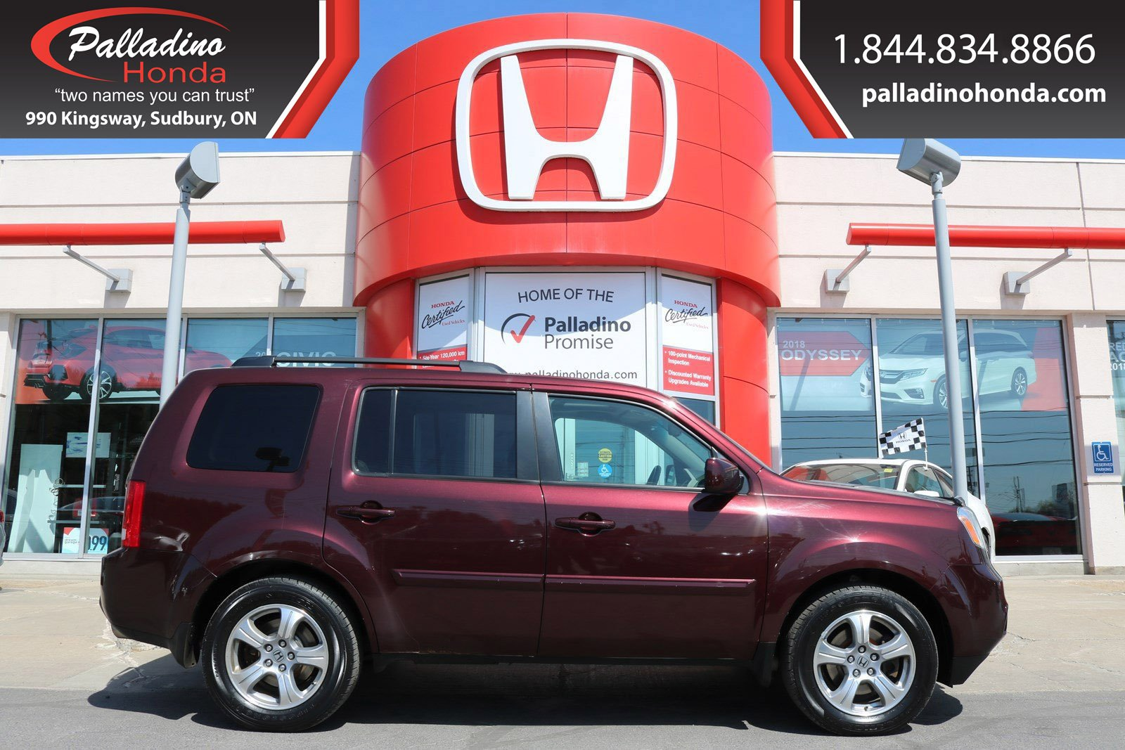 Pre-Owned 2013 Honda Pilot EX-L - BACK UP CAMERA 3RD ROW SEATING SUNROOF -