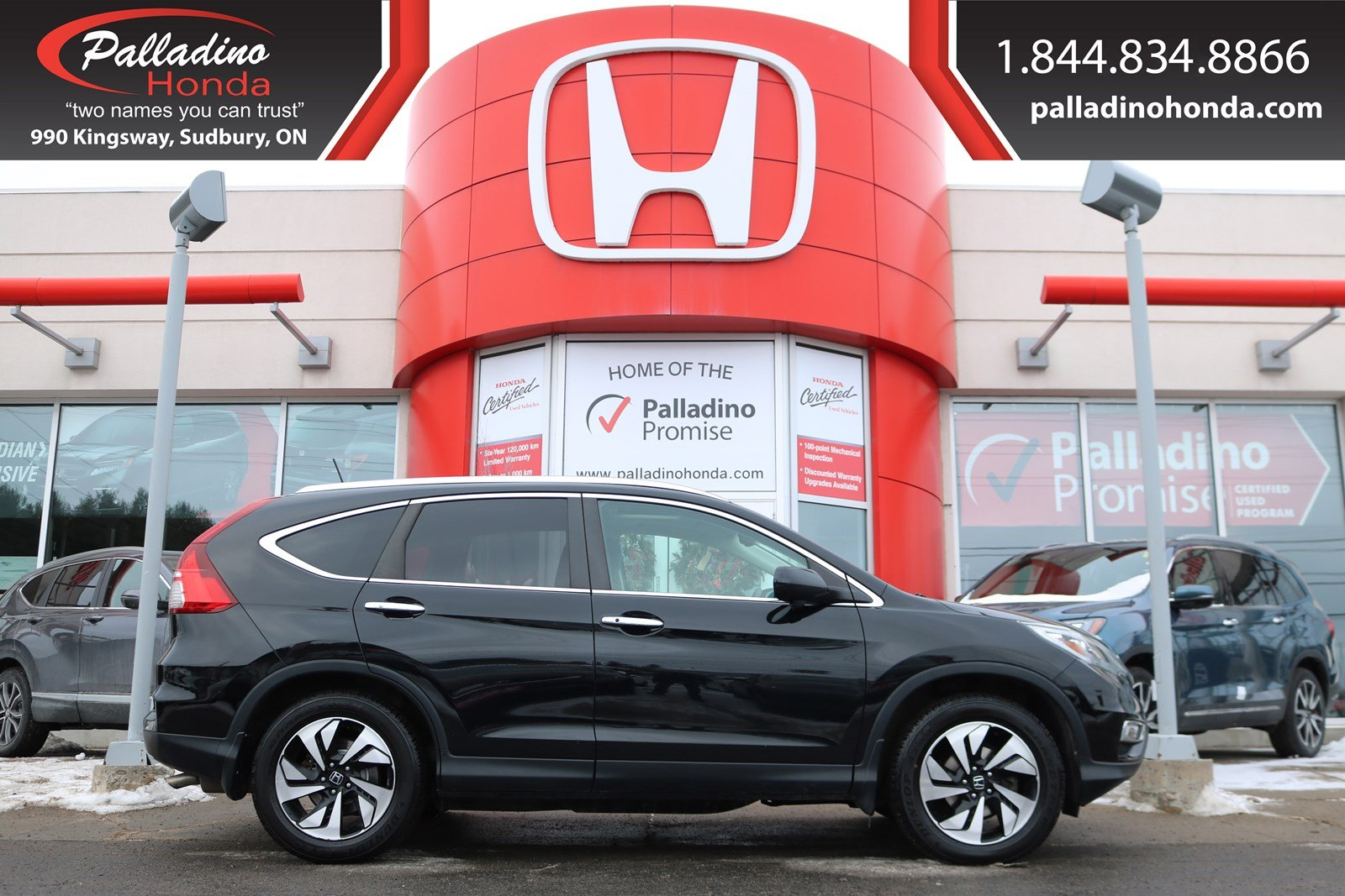 Pre-Owned 2015 Honda CR-V Touring-ALL WHEEL DRIVE, NAVIGATION, HEATED LEATHER SEATS