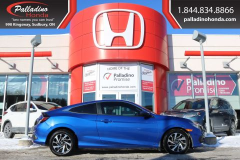 Pre-Owned 2017 Honda Civic Coupe LX-BACKUP CAMERA, HEATED SEATS, BLUETOOTH