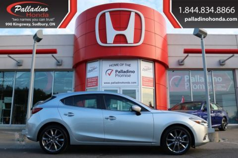Pre-Owned 2018 Mazda3 Sport GT-NAVIGATION,BLUETOOTH,HEATED SEATS FWD Hatchback