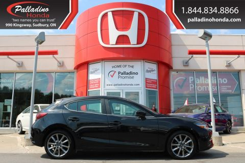 Pre-Owned 2018 Mazda3 Sport GT-NAVIGATION,BACKUP CAMERA,HEATED SEATS/STEERING WHEEL FWD Hatchback